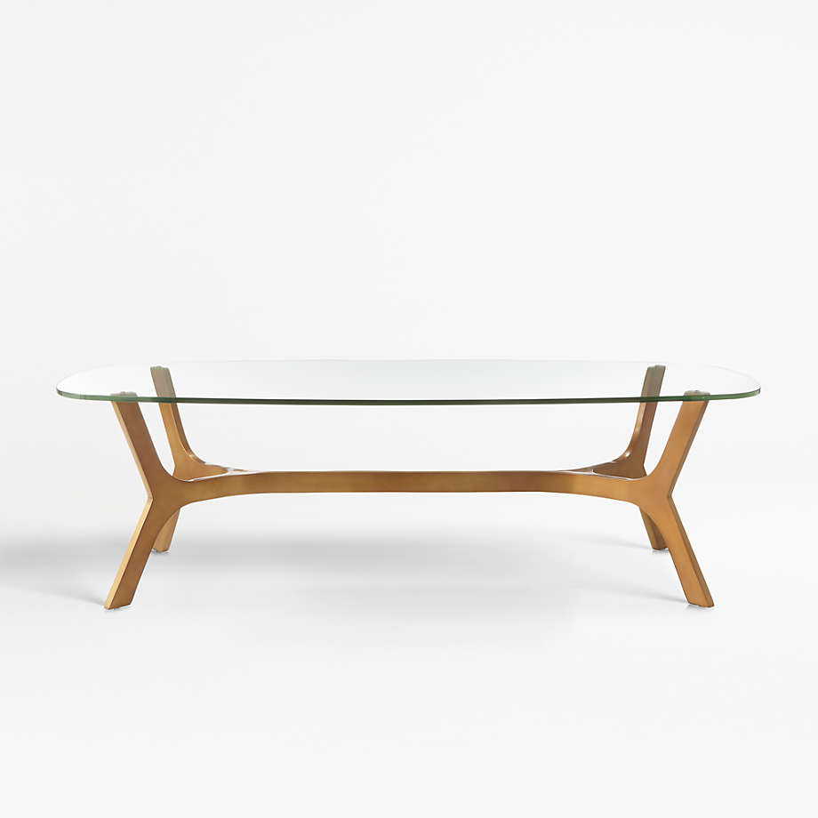 Elke Rectangular Glass Coffee Table With Brass Base Reviews Crate And Barrel Canada Rectangular Glass Coffee Table Round Glass Coffee Table Coffee Table [ 920 x 920 Pixel ]