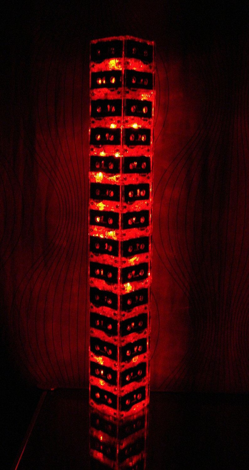 Red LED Mixtap Cassette Tape Light