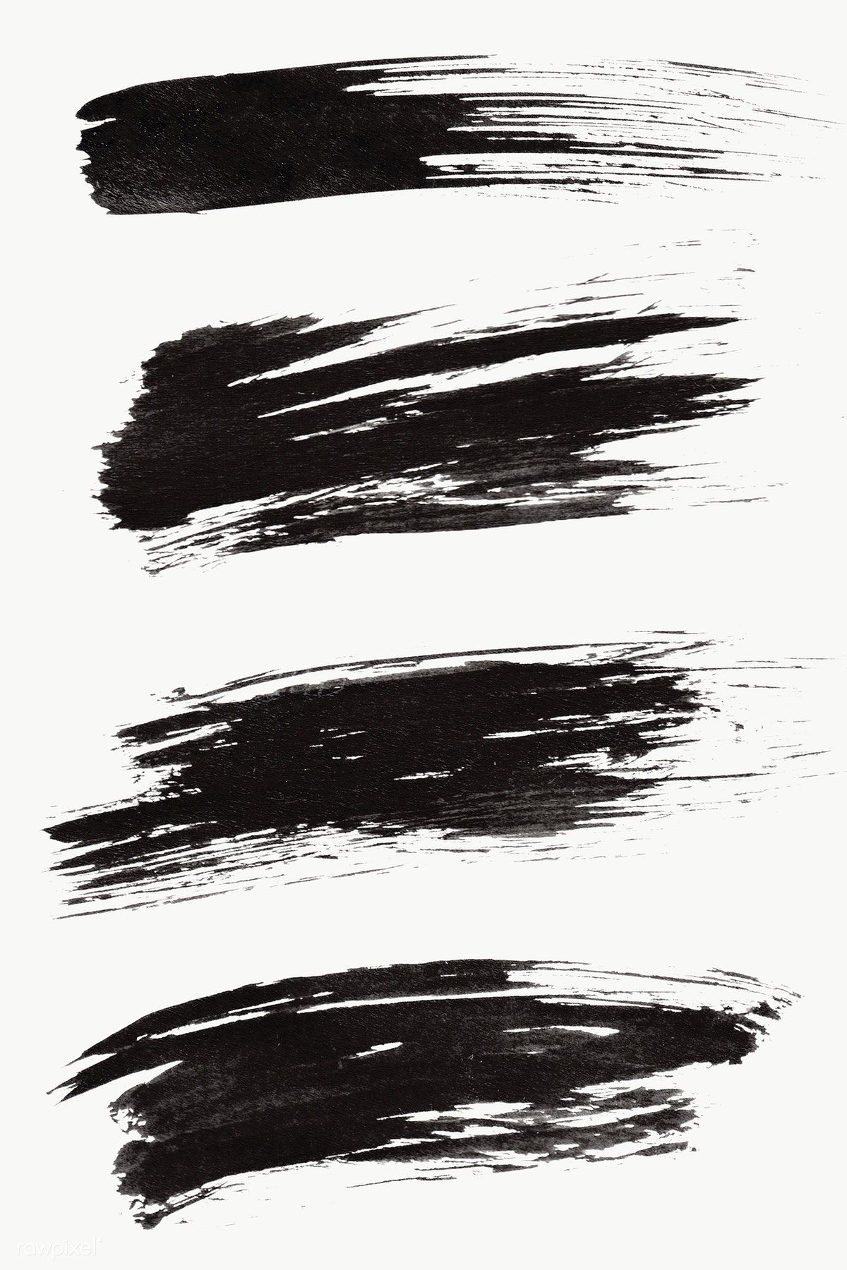 Abstract Black Brush Stroke Set Transparent Png Free Image By Rawpixel Com Nunny Brush Stroke Tattoo Brush Stroke Png Brush Stroke Art