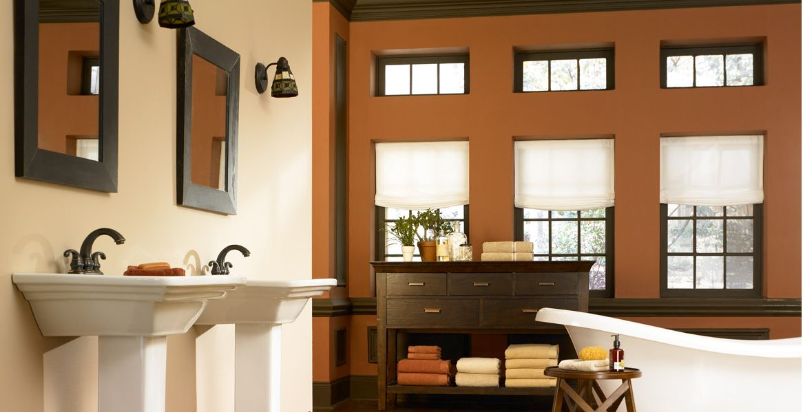 Sink, mirror, light combo | Paint color inspiration ...