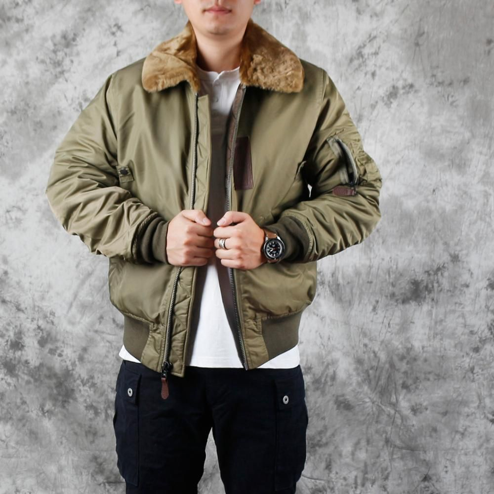 Free Shipping Plus Size Man B15 Flight Jacket Classic Casual Winter Warm Wool Collar Coat Thicker Cotton Jackets Qual In 2020 Winter Casual Flight Jacket Plus Size Men [ 1000 x 1000 Pixel ]