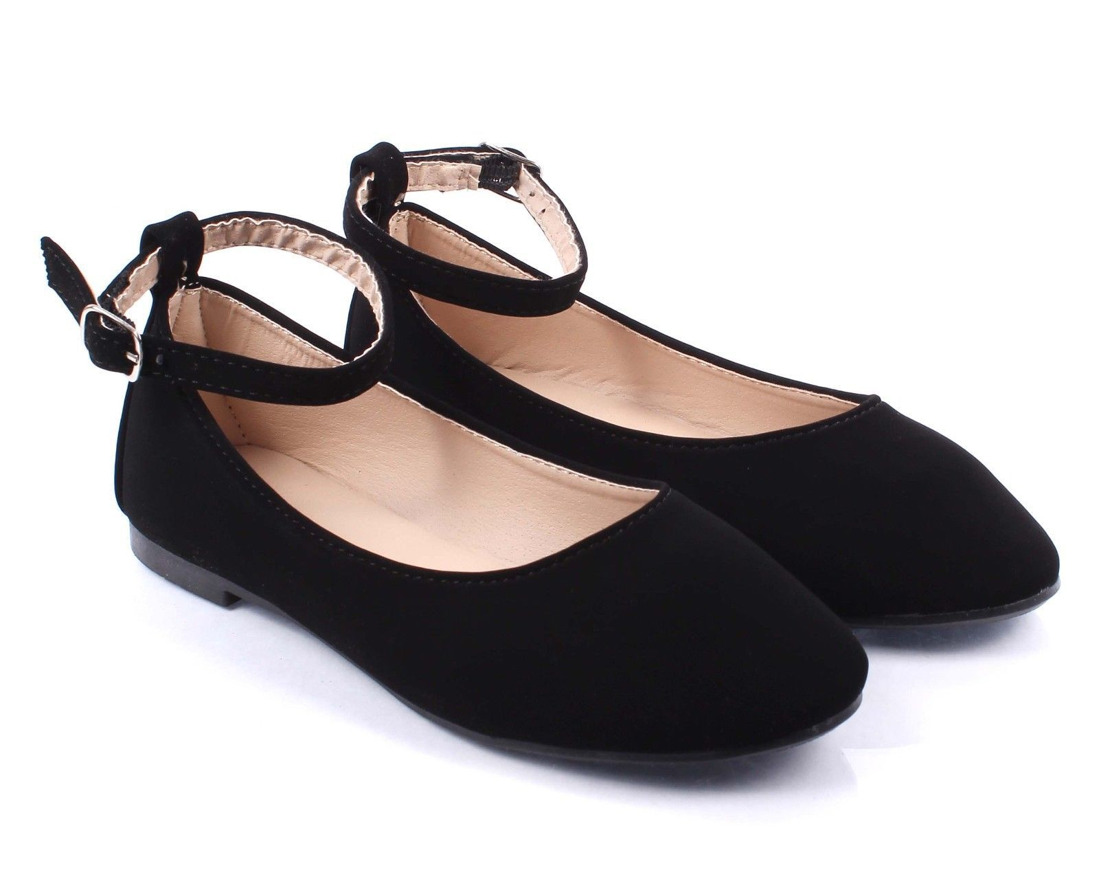 Black Color Nubuck Dressy Ladies Buckle