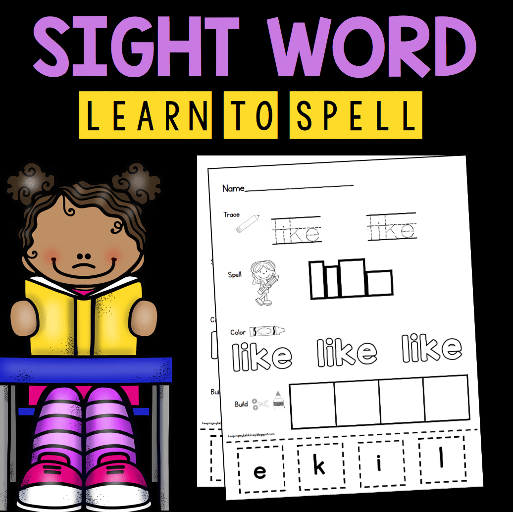 Sight Words Keeping My Kiddo Busy
