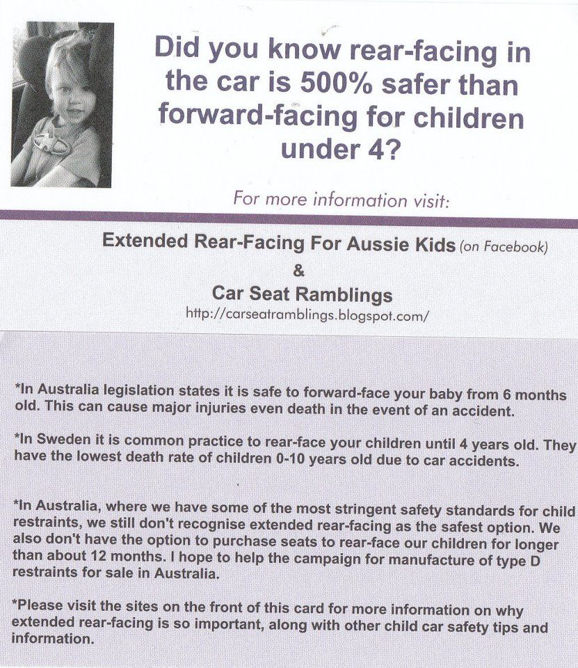 Rear facing is safer! | Extended Rear Facing/car seat safety ...