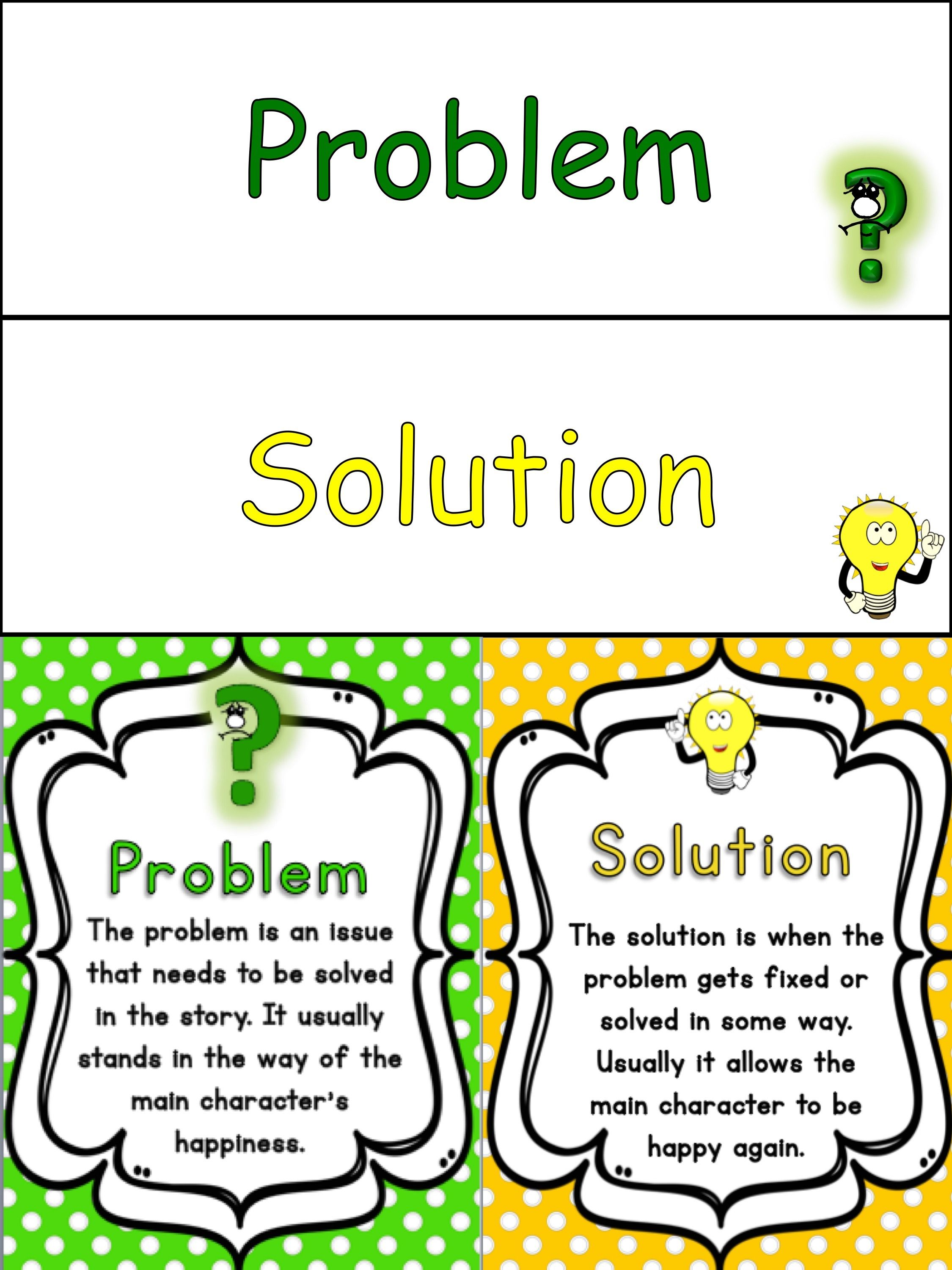 Story Elements Problem And Solution Bundle A
