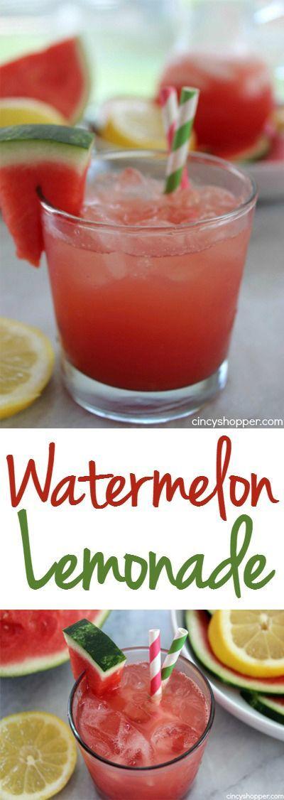 watermelon lemonade rezept beverages pinterest erdbeeren und rezepte. Black Bedroom Furniture Sets. Home Design Ideas