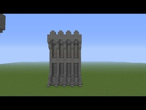 Minecraft Castle Wall Tutorial Youtube Things To Make