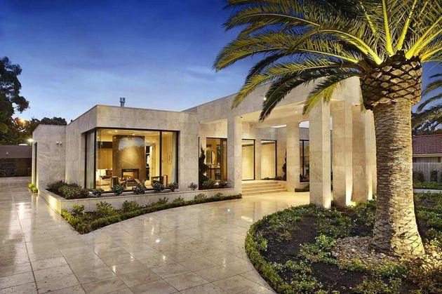 Luxus Melbourne Haus mit Säulen Eintrag und Innenhöfe #beautifulhomes