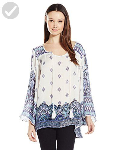 b79ca5f6d4fef Angie Junior s Long Sleeve Tie Front Top