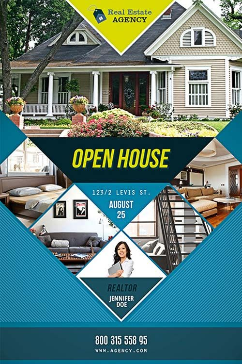 Free Open House Flyer Template  Real Estate Marketing Ideas