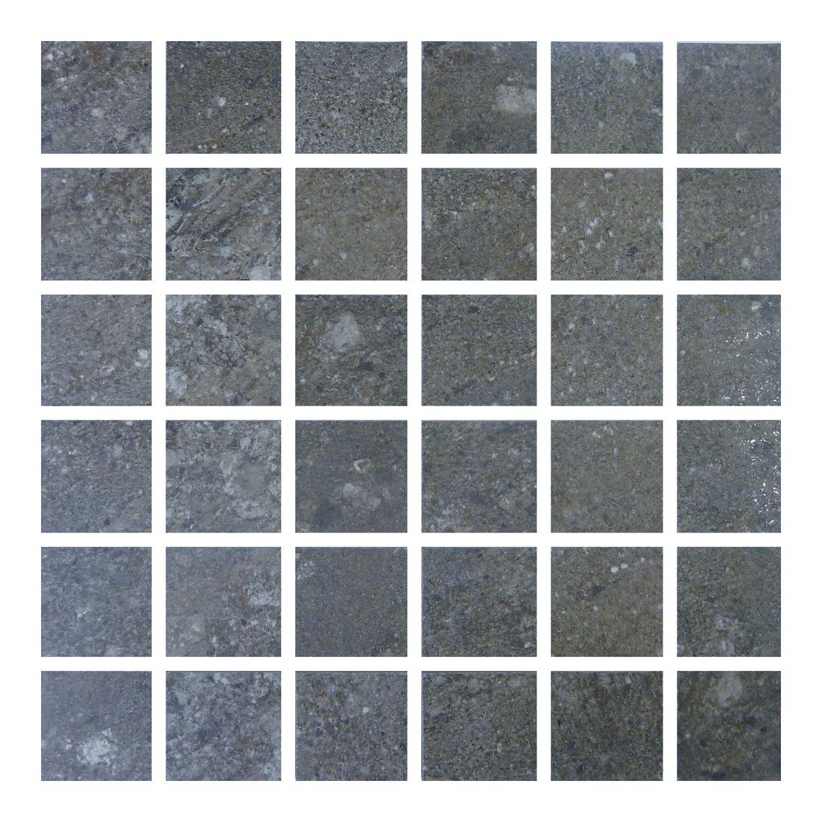 Gemini Hillock Dark Grey Mosaic Bathroom Kitchen Wetroom Living Room Conservatory Hallway