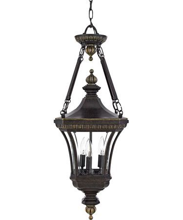 Quoizel DE1490 Devon 3 Light Outdoor Hanging Lantern| Capitol Lighting 1-800lighting.com