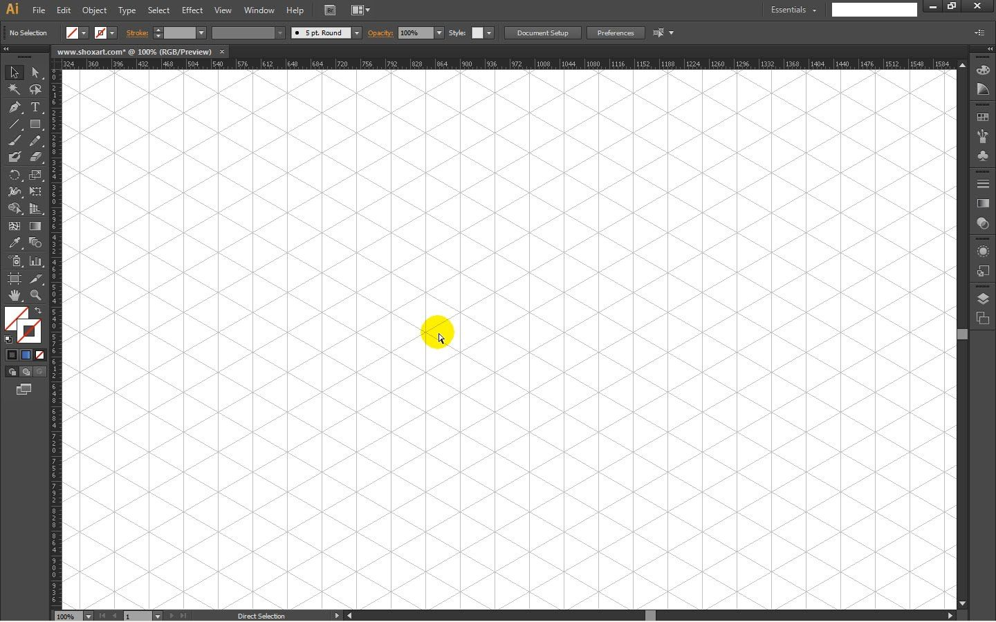 How to draw ISOMETRIC GRID TEMPLATE in Adobe Illustrator - Tutorial ...