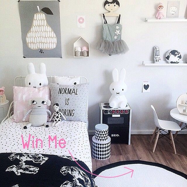 normal kids bedroom. Shared Scandi Inspired Monochrome Girls Bedroom Including Miffy Lamp And Darling Clementine Print Black White Kids Room Eyebrow Makeup Tips Normal