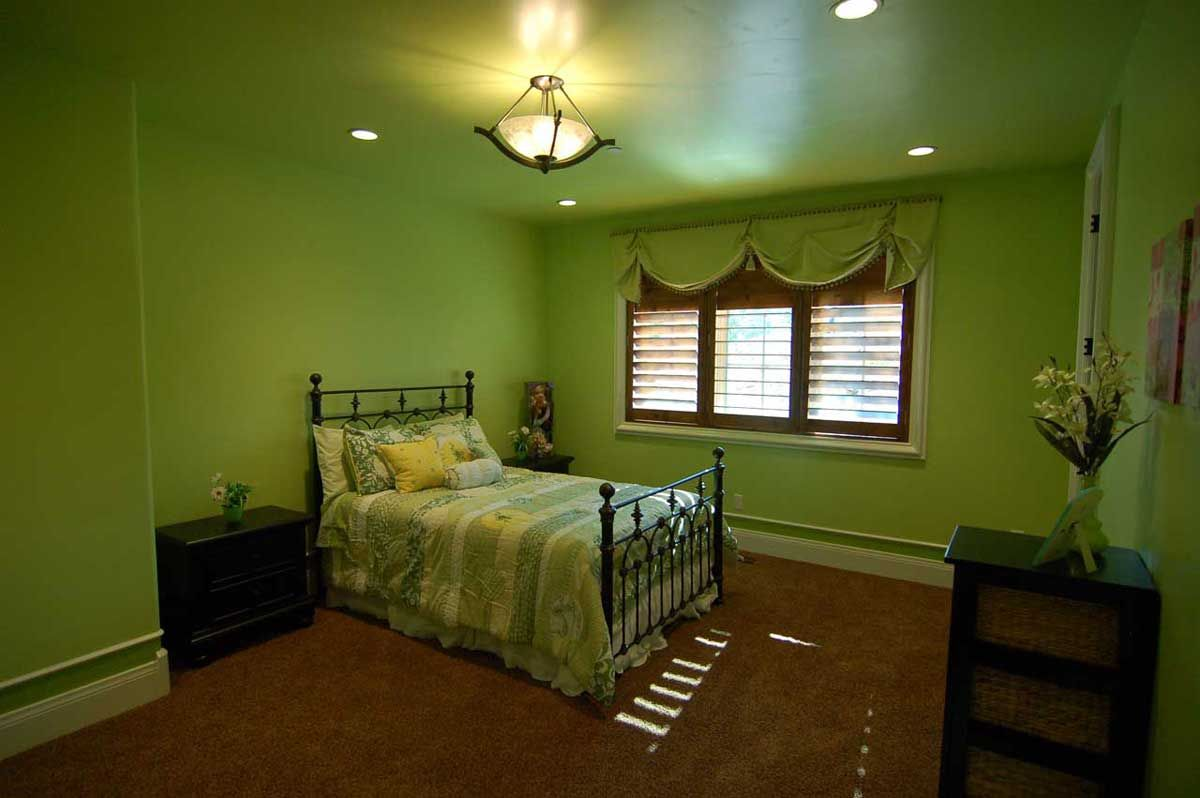 Lime Green Bedroom from