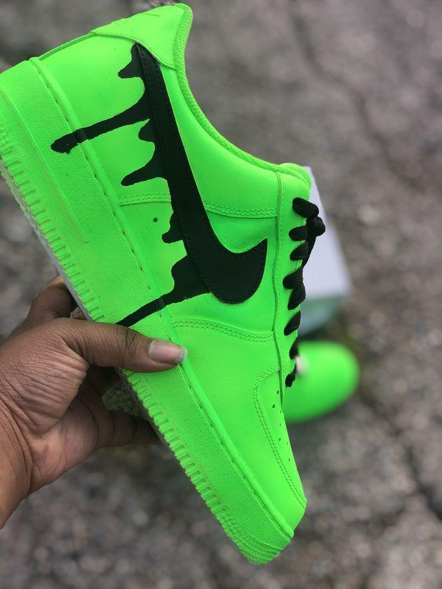Párrafo Violeta estaño  Slime Drip AF1s | THE CUSTOM MOVEMENT | Neon nike shoes, Nike shoes blue, Green  nike shoes
