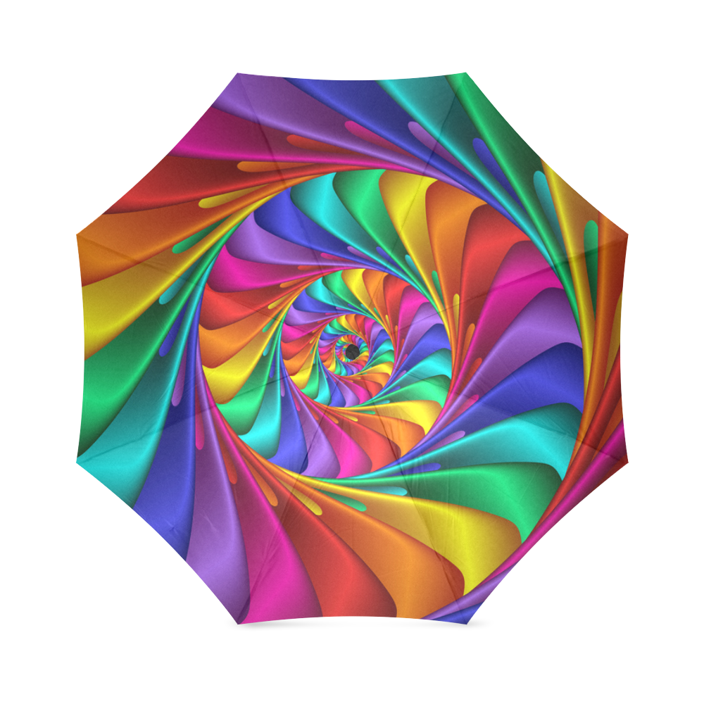 Psychedelic Rainbow Spiral Umbrella Foldable Umbrella