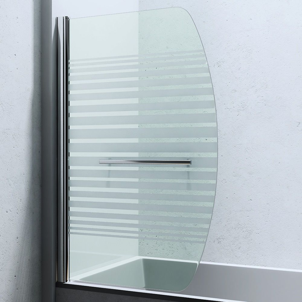 Tempered 6mm Privacy Frosted Glass Curved Over Bath Shower Screen Panel C112s Shower Bath Shower Screen Bath Shower Screens