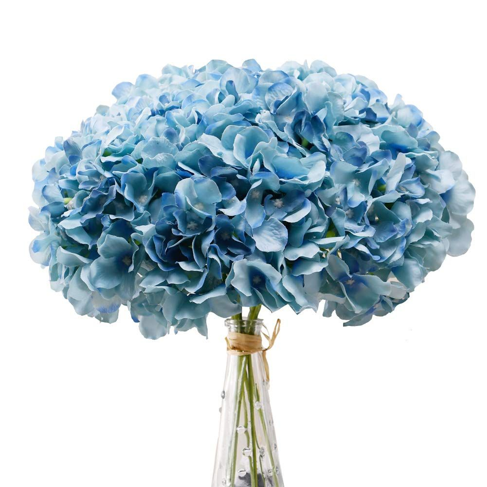 36 In Dark Blue Silk Hydrangea Silk Hydrangeas Blue Hydrangea Flowers Dark Blue Hydrangea