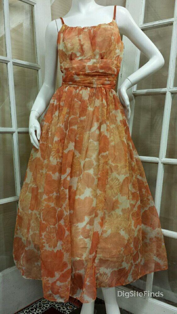 Orange Crinoline Prom Dresses