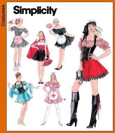 Sewing Pattern-Simplicity Pattern 3618-Costume Short Lolita Dress ...