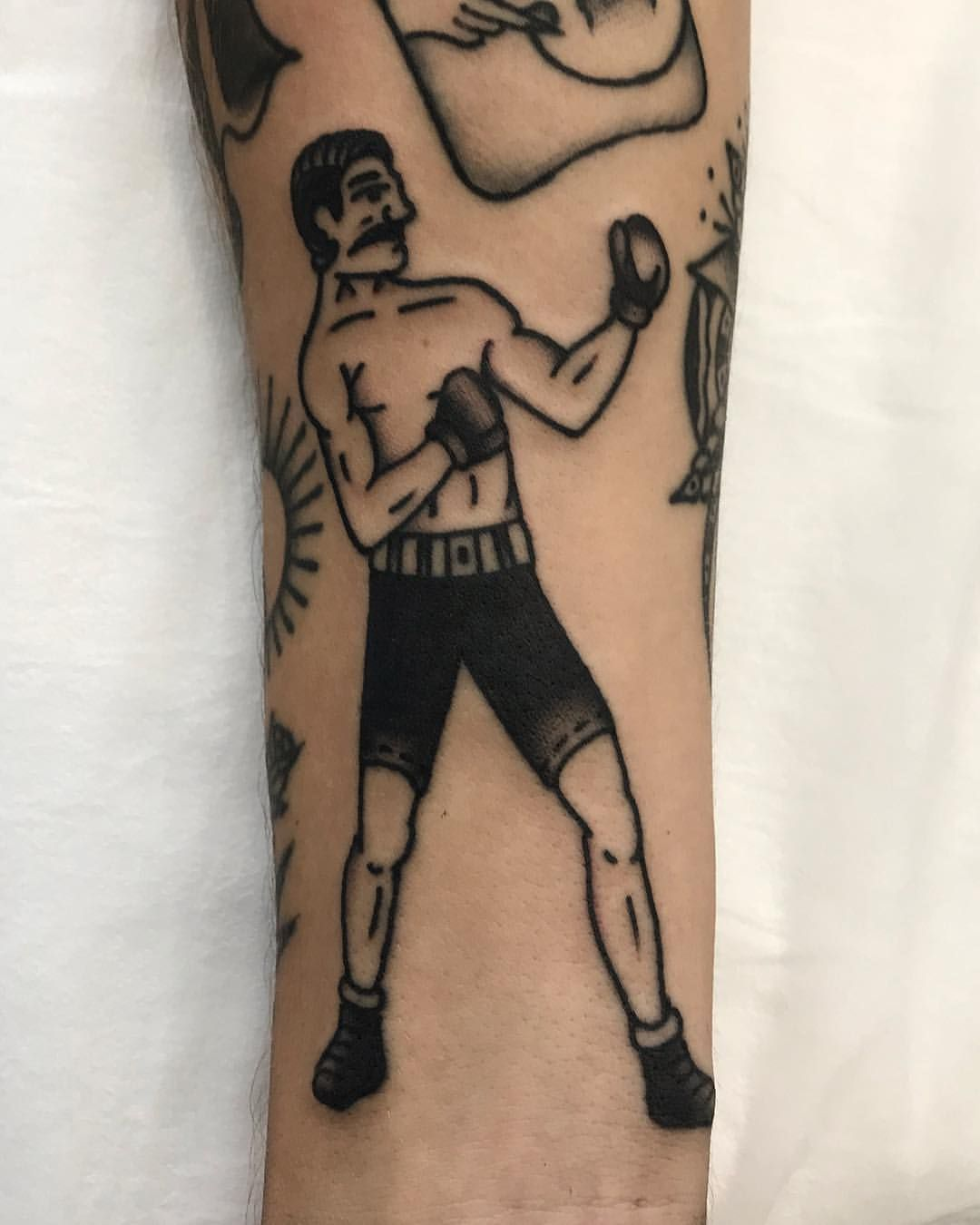 Boxer Form Yesterday Thanks Again Guy Email Or Dm To Book Traditional Tattoo Traditional Tattoo Design Boxing Tattoos