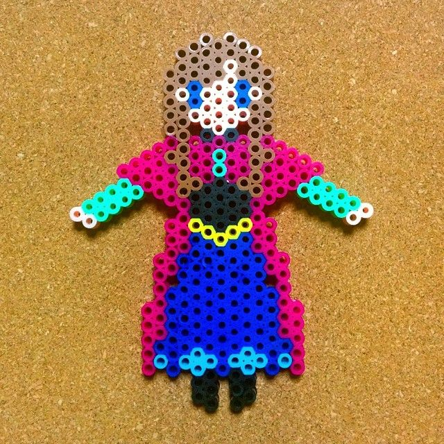 Princess Anna - Frozen perler beads by tentenyama