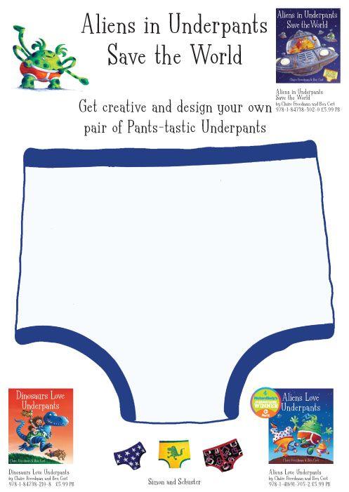 Aliens Love Under Pants Template Design Aliens In Underpants