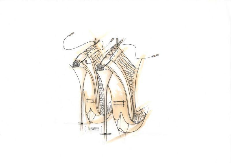 great shoe sketch: Vasileios Kalamidas