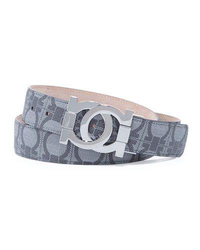 9c6052dd0ab Salvatore Ferragamo belt. Gancini-print PVC. Approx. 1 1/4