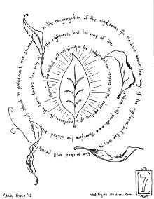 The Lord Knows Way Of Righteous Psalm 156 Coloring Page