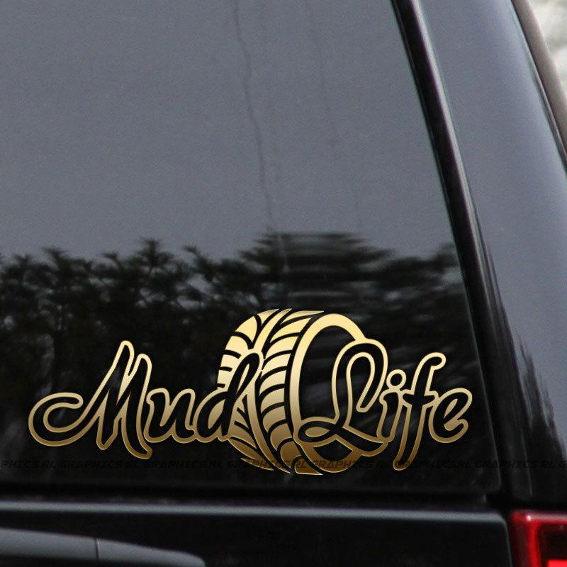 Details About Mud Life Decal Sticker 4x4 Mudding Offroad