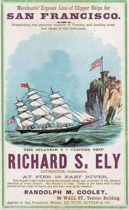 Shipping poster - Year unknown.