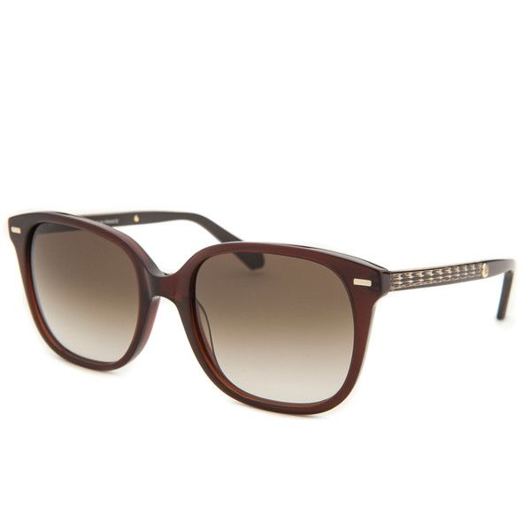 Balmain Women's Square Brown Sunglasses ($71) ❤ liked on Polyvore featuring accessories, eyewear, sunglasses, brown, mirrored sunglasses, square lens sunglasses, square frame glasses, mirror sunglasses and balmain sunglasses
