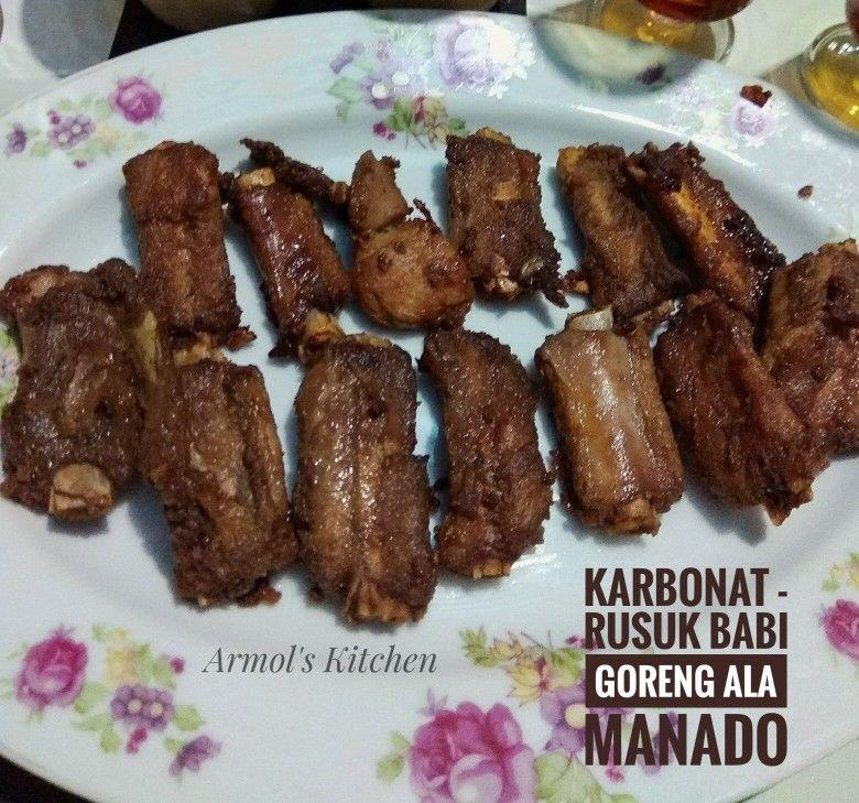 Karbonat Rusuk Babi Goreng Ala Manado Resep Masakan Resep Resep Babi