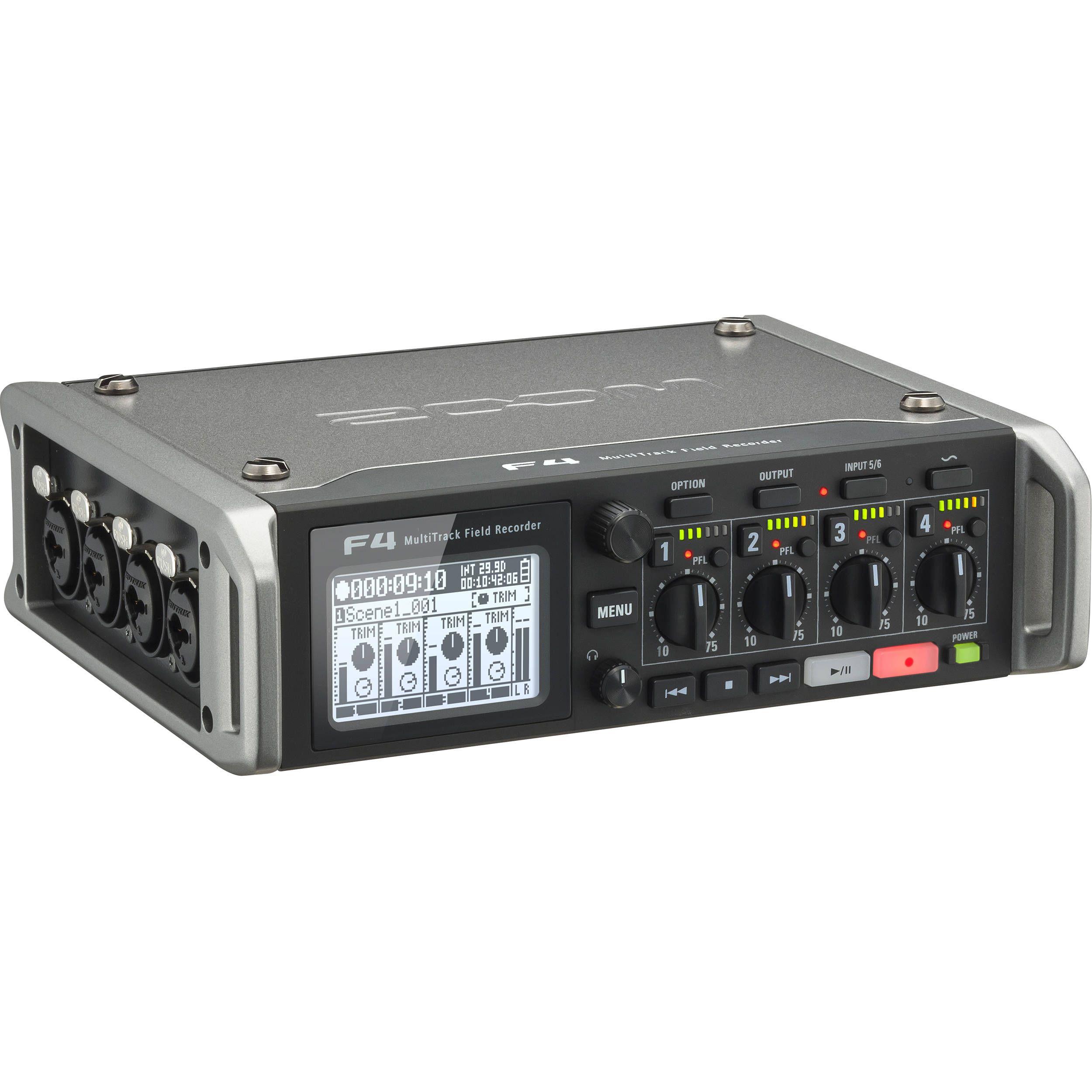 Zoom F4 6 Input 8 Track Multi Track Field Recorder