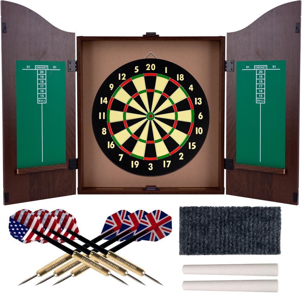 Trademark Games Dart Board Set in Walnut15DG910