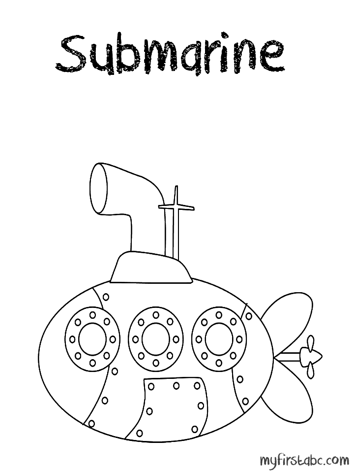submarine submarine coloring page - Submarine Coloring Pages Print