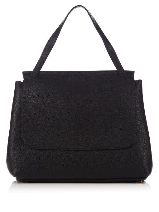 THE ROW Sidekick Grained-Leather Shoulder Bag. #therow #bags #shoulder bags #lining #suede #