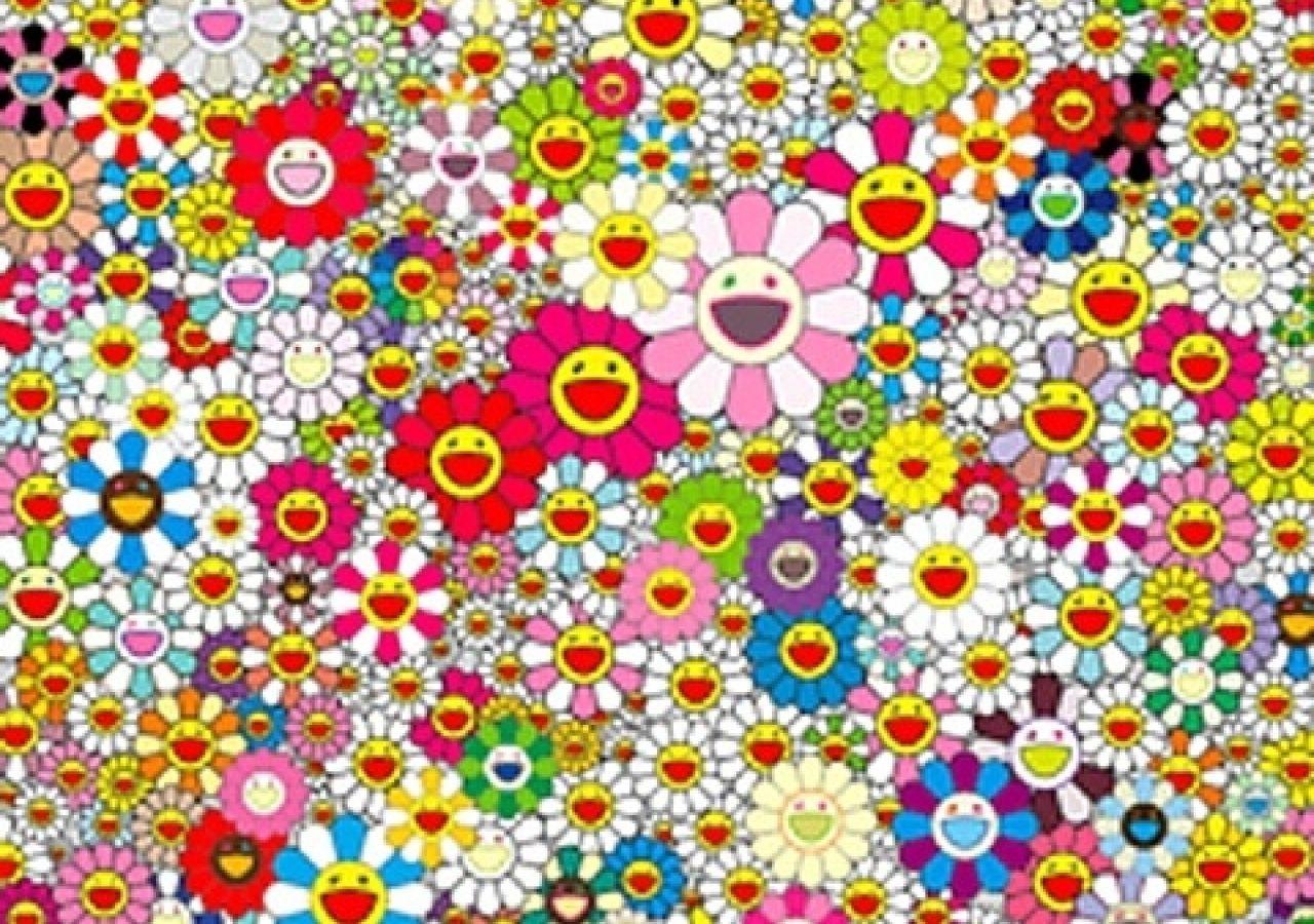 Murakami flowers Graphic patterns, Takashi murakami
