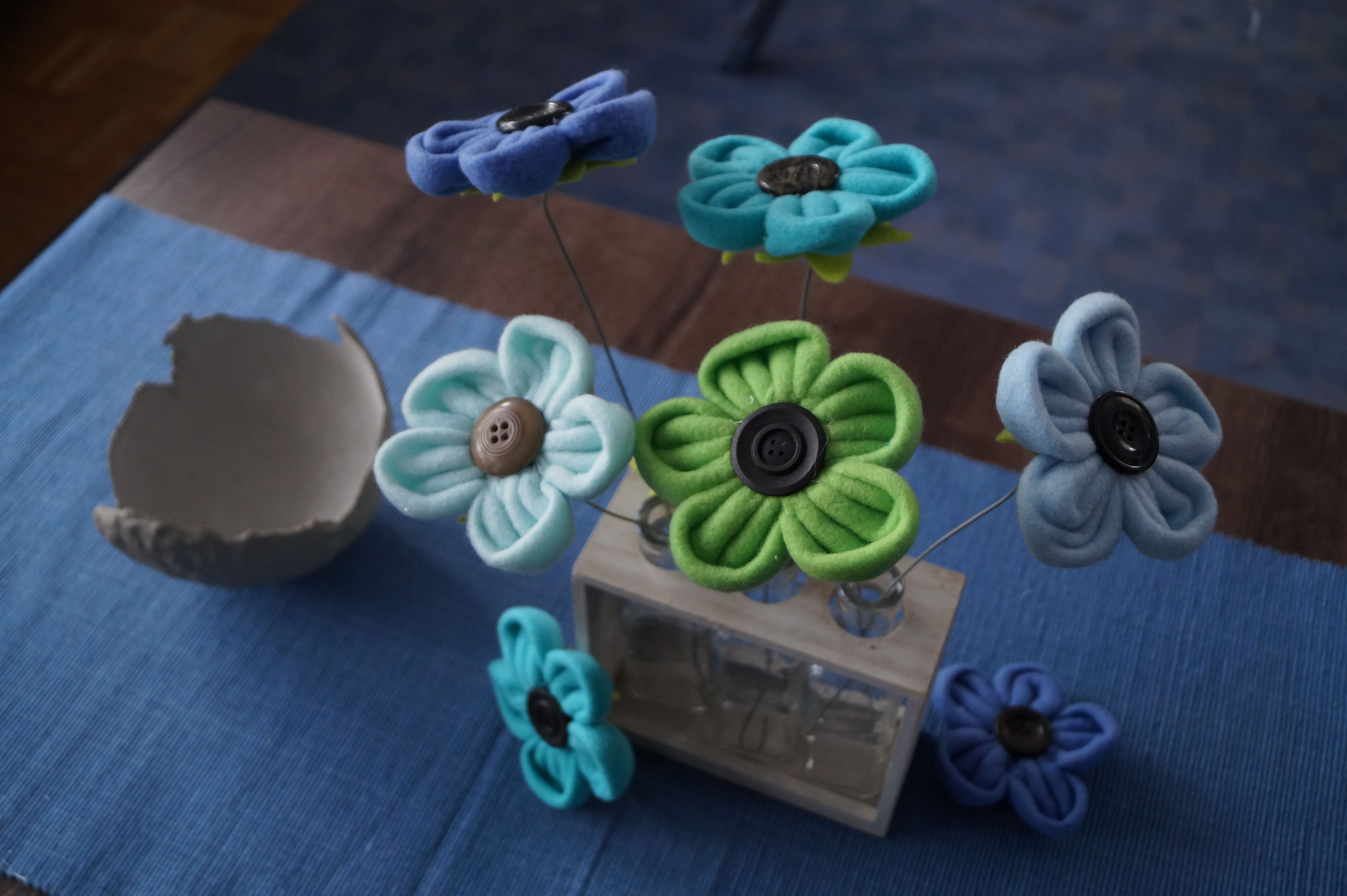 Blumen aus Fleecedecke nähen, DIY, Happy Hobby, Youtube