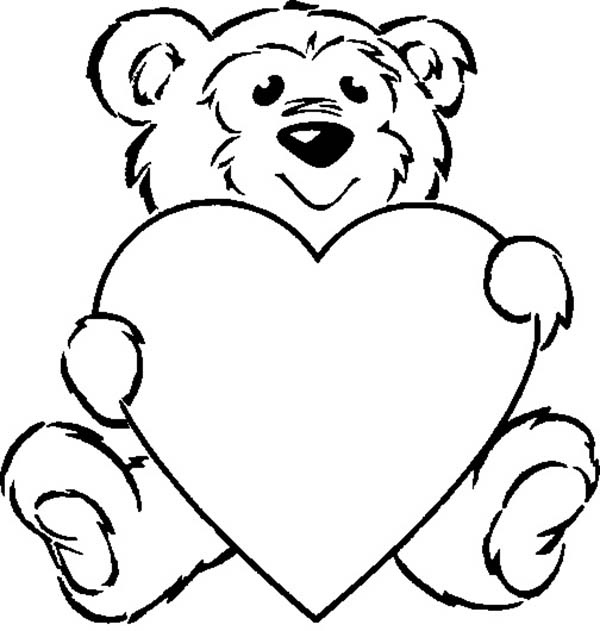 Teddy Bear Waiting For His Love Ones Coloring Page