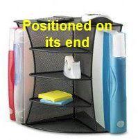 A 2 Way Corner Shelf Unit Will Add Storage Versatility To Your Cubicle Workspace Bliss Corner Shelf Unit Cubicle Corner Shelves