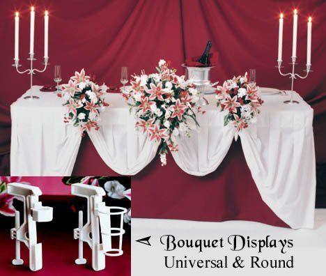 Wedding bouquet display holder clamp for reception table decorations wedding bouquet display holder clamp for reception table decorations bouquet display httpwww junglespirit Images