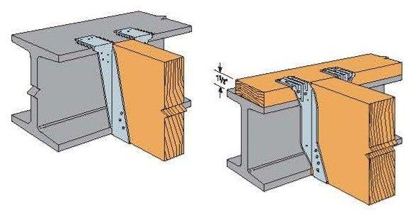 Steel strap bottom joist