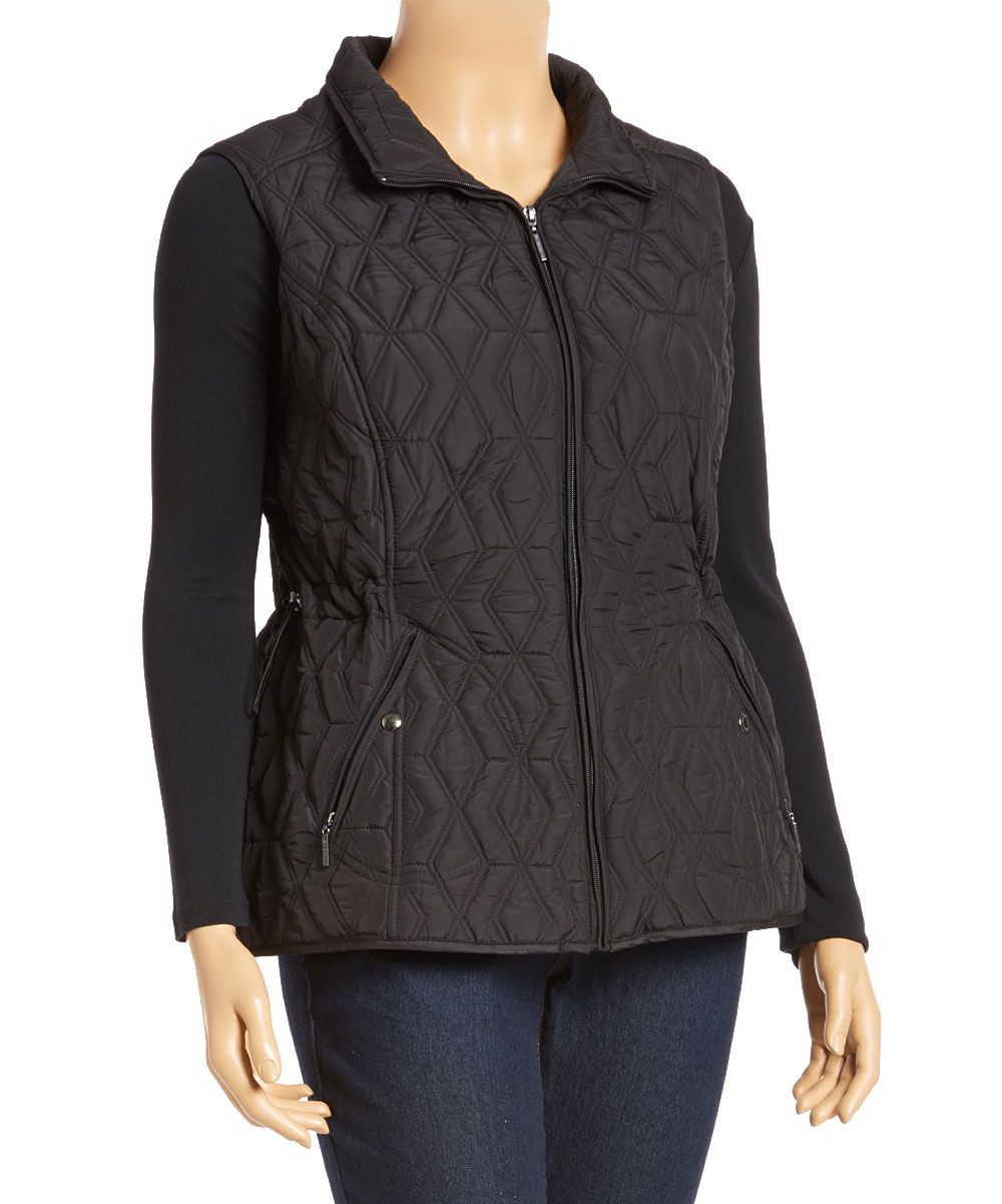 feaf5023c2154 Black Diamond Quilted Vest - Plus | Products | Quilted vest, Diamond ...