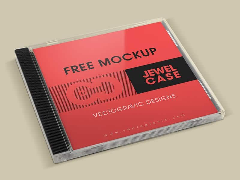 Grab This Set Of Free Cd Jewel Case Mockup From Vectogravic