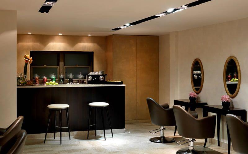 Nail Salon Interior Decoration Ideas Gielly Green Lighting ...
