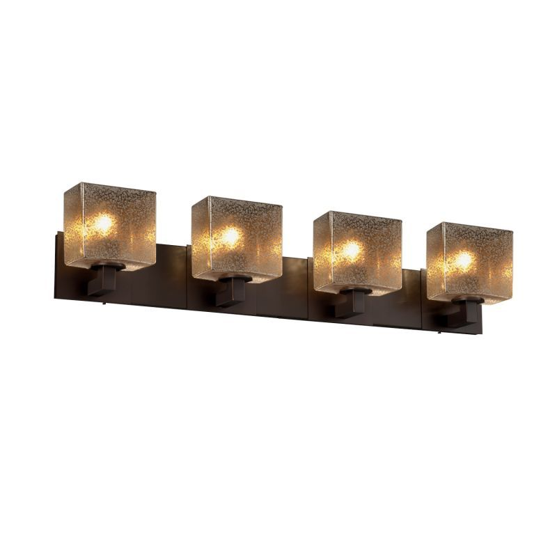 "Justice Design Group FSN-8924-55-MROR Fusion 35.25"" Modular 4 Light Vanity Light"