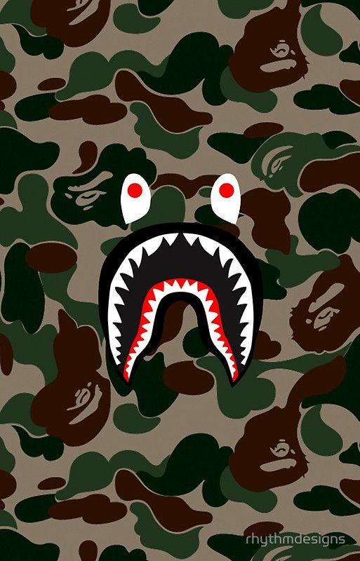 BAPE Camo Shark Face Logo
